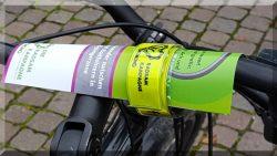 flyer am Fahrrad